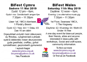 A6 single leaflet - back side event information bilingual- BiFest Wales2019