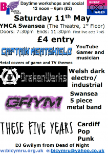 evening gig flyer - BiFest Wales 2019 final